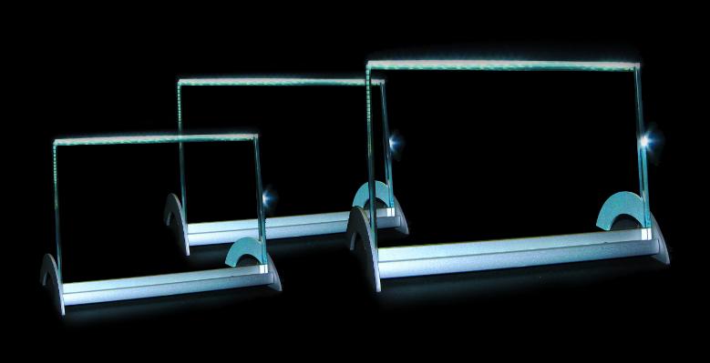 foto in glas met led